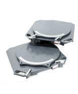 One Pair Aluminum Turntable Wheel Alignment 360° Rotating Turn Plate Tab... - $178.19