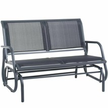 Superjare Outdoor Swing Glider Chair, Patio Bench For 2 Person, Garden L... - $213.99+