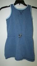 Girl's Hanna Andersson dress 110 heather blue sleeveless tank 5 terryclo... - $14.84