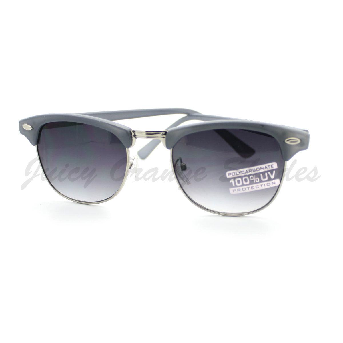 Womens Fashion Sunglasses Petite Half Round Rim Vintage Keyhole Frame