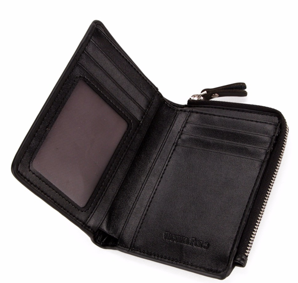 VICUNA POLO® Luxury Genuine Leather Wallet With Zipper Coin Pocket for Men