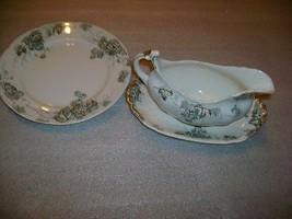 Alfred Meakin Kent England Gravy Boat & Plate Transfer - $34.65