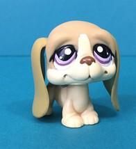 Littlest Pet Shop Puppy Dog Basset Hound Cream Tan Brown #1465 LPS Authe... - $7.95