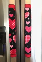 Refrigerator Door Handle Covers Set of Two Valentine Heart Theme 12L X 4.5W - $11.99
