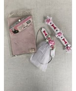 New Doggie Flower Girl Adjustable Collar and Headband Pink White Hobby L... - $9.90