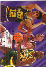 1994-95 Fleer NBA Basketball Team Leaders Gold Insert - Stockton Kemp Chapman - $3.95