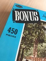 "Vintage 50s Whitman Bonus Interlocking Border Jigsaw Puzzle- #4651 ""Bridge""  image 5"