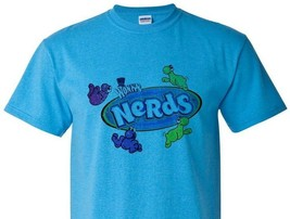 Nerds Distressed T-shirt retro candy vintage style distressed heather blue tee image 1