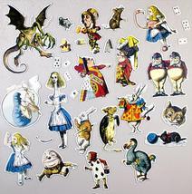Alice in Wonderland Magnet Set 30 magnets John Tenniel drawings Color Magnetic image 2