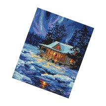 Dimensions Point Kit, Winter Sky Cabin, 11'' X 14'' - $48.99