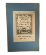 Ex Libris Book Plate Exlibris General Society Mayflower Descendants Pratt - $49.49