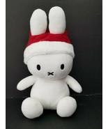 "Nijntje Miffy Santa Hat Plush 7"" White red Bunny Rabbit Stuffed Animal - $22.19"