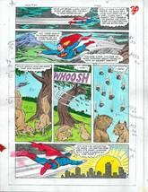 Original 1985 Superman 409 page 30 DC Comics color guide art colorist's ... - $59.39