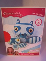 AMERICAN GIRL Crafts Raccoon Sew & Stuff Kit One for You & Mini for Doll... - $11.17