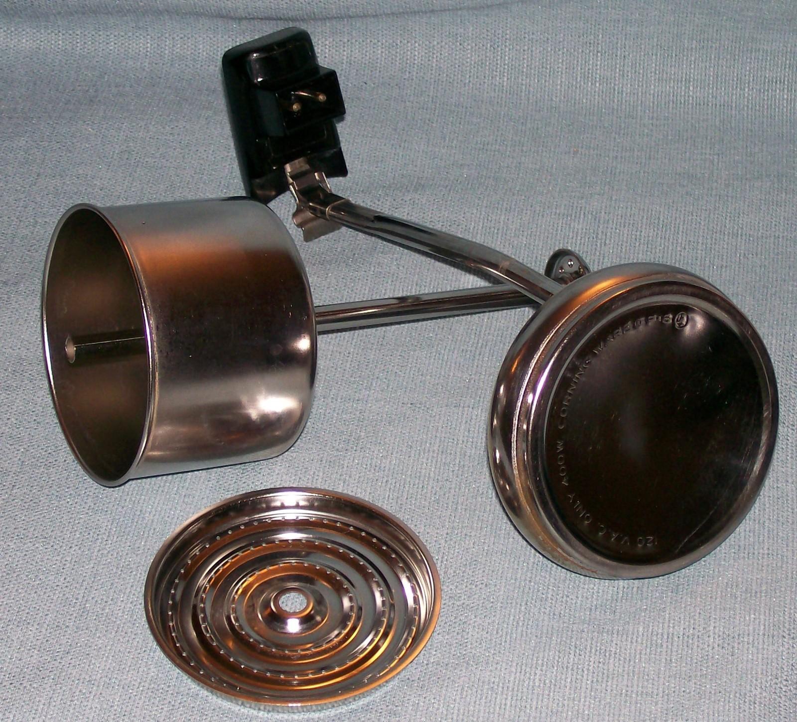 Corning Ware BLUE CORNFLOWER Electric Coffee Pot/Percolator 6 cup P-6-EP VGVC  image 14