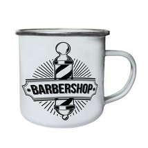 Barber Shop Logo Retro,Tin, Enamel 10oz Mug m648e - $13.13