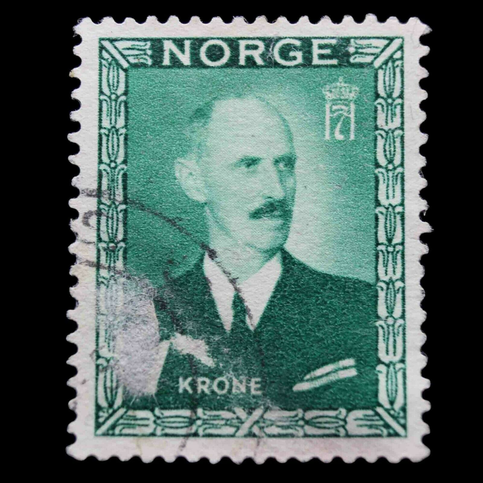 Primary image for Norway 1946 King Haakon VII 1 Krone Used Stamp