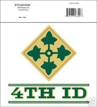 Us Army 4TH Id Steadfast And Loyal Decal - $13.53