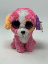 "Ty Beanie Boos PRECIOUS the Pink Orange Puppy Dog 6"" Glitter Eyes Stuffe... - $890.01"
