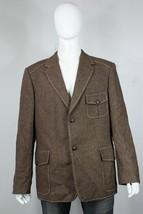 vintage Harris Tweed blazer 45 custom bespoke brown half belt back jacket - $80.00