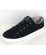 Tommy Hilfiger Women's Lenz Sneaker black lace textile size 9.5 M - $21.11
