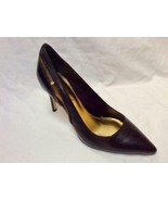 EUC Marc Fisher Beautiful Black Real LEATHER Shoes Stiletto Heels sz 6.5 - $165.00