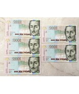 5 Colombia 2000 Mil Pesos 2009 Consecutive Uncirculated Banknote - $19.80