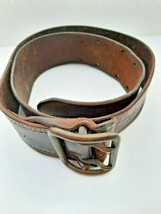 Soviet Union Russian Army Officer Real Genuine Leather Brown Belt - $17.82