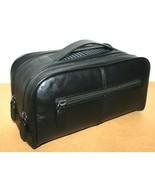 ❤️THE ART OF SHAVING Black Leather Wash Bag Travel Toiletry Kit EXCELLEN... - $65.54