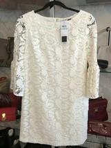 CYNTHIA STEFFE Lilly White Lace Paisley #83249888 Dress Sz 8 $350 NWT - $172.16