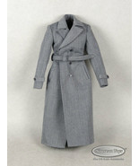 1/6 Phicen, TBLeauge, Pop Toys - Female Gray Large Overcoat w/ Waist Belt - $26.24