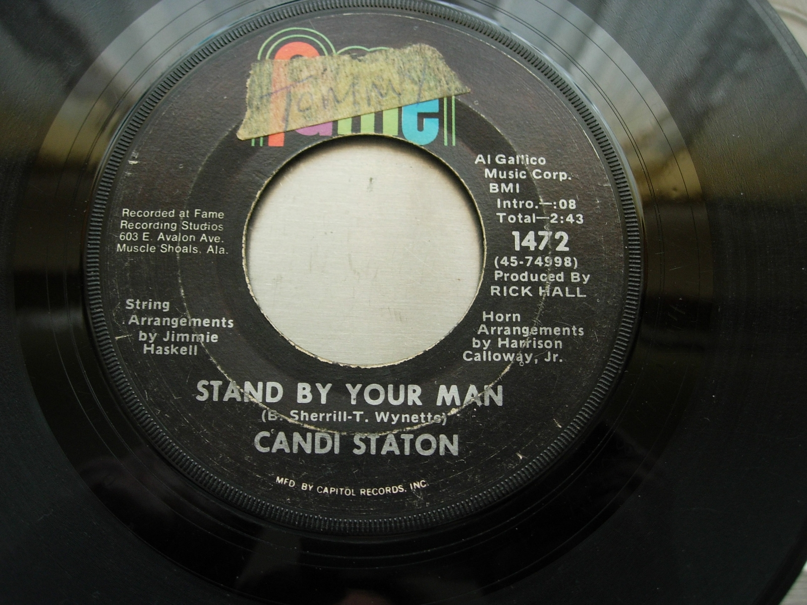 Candi Staton - Stand By Your Man / How Can I Put Out the Flame - Fame 1472