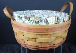 1995 Longaberger Mother's Day Basket of Love * Floral Liner & Plastic Pr... - $5.34