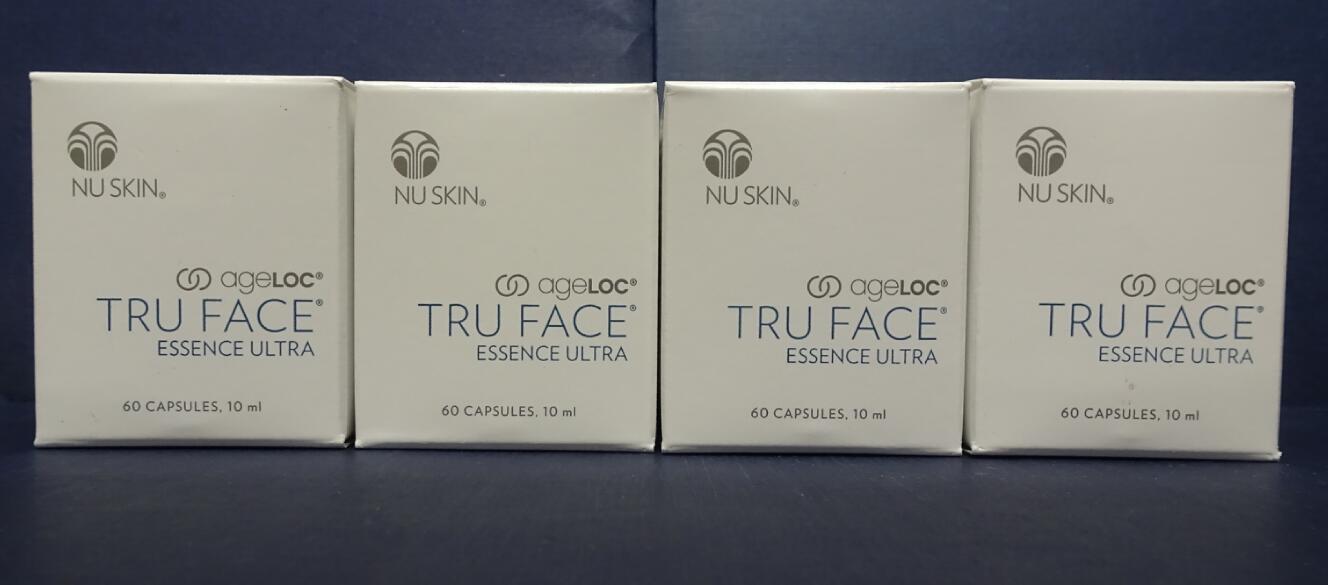 Four pack: Nu Skin Nuskin AgeLOC TRU FACE Essence Ultra 60 Capsules SEALED x4 - $580.00