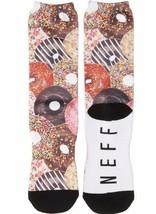 NEW Neff OSFM Yummy Glazed Sprinkles Donut Cotton Poly Crew Socks 15F16017 NWT image 2