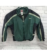 WILSON Men's Jacket Nylon Rain Windbreaker Green Retro Zip Up Sz Large - $31.05