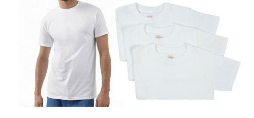 Big Men's Crew-neck Tee Shirt 3-Pack Hanes Ultimate Comfort Soft Fresh IQ White