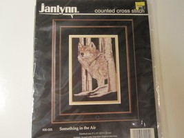 "Counted Cross Stitch Wolf ""Something In The Air""  Kit Sealed Janlynn 9"" ... - $12.16"