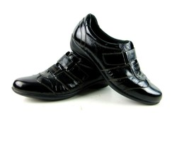 Clarks Everyday Womens Black Slip On Leather Shoes 10M - $29.69