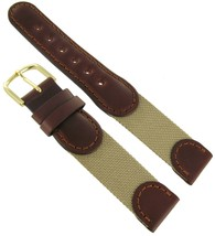 18mm Hirsch Explorer Watch Band Brown and Beige Swiss Army Style SHIPSFREE - $11.22