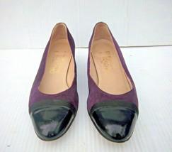 Salvatore Ferragamo - Women's Purple Suede Cap Toe Loafers Shoes Size 6.5 B - $36.99