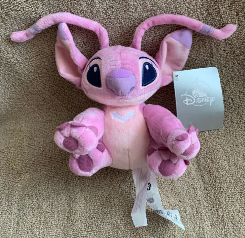 "Primary image for Disney Store Lilo And Stitch 6"" Pink ANGEL Mini Bean Bag Plush Toy New with Tags"