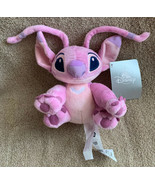 "Disney Store Lilo And Stitch 6"" Pink ANGEL Mini Bean Bag Plush Toy New w... - $15.83"