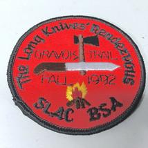VTG BSA Boy Scouts St. Louis Area Gravois Trail 1992 Long Knives Rendezvou Patch - $7.31