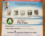Honeywell HRF-AP1 Filter A Universal Carbon Pre-filter, Pack of 1