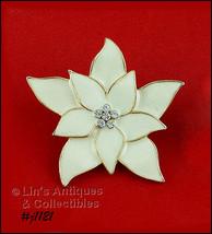 Signed Eisenberg Ice Poinsettia Pin Ivory (#J1121) - $38.00
