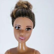Nude Brown Hair updoo Ballerina AA Doll pink legs Jointed ankles  - $5.94