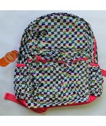 Sequin Checkered Backpack Full size Pink White - $19.79