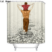 Cartoon 63 Shower Curtain Waterproof Polyester Fabric For Bathroom - $33.30+
