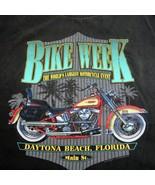 Bike Week 1995 Daytona Beach Miami Florida 2x Black Vintage Tee Shirt XXL - $24.99